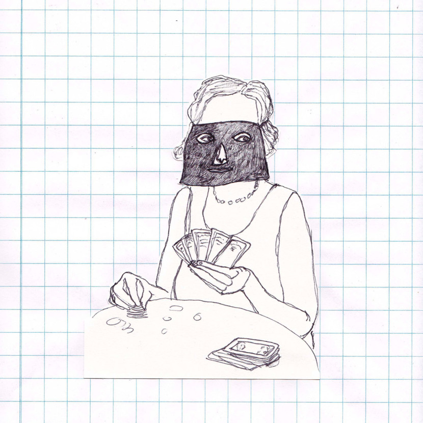 home-tekening-ruitjespapier